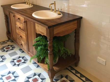 Custom Design Vanity - In Tasmanian Blackwood