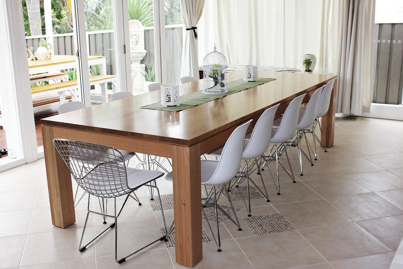 Tasmanian Oak Dining Table. Timber Furniture